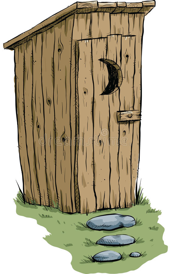 outhouse stock illustrationer