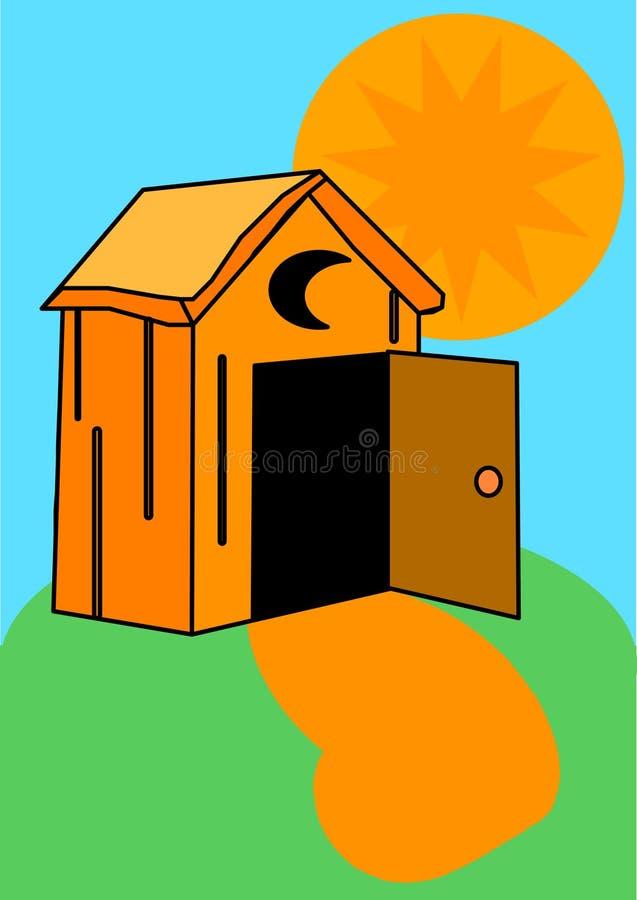 Outhouse ilustração do vetor