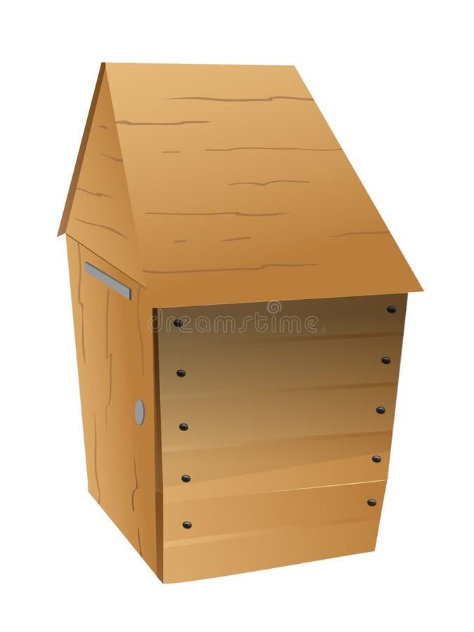 outhouse ilustração stock