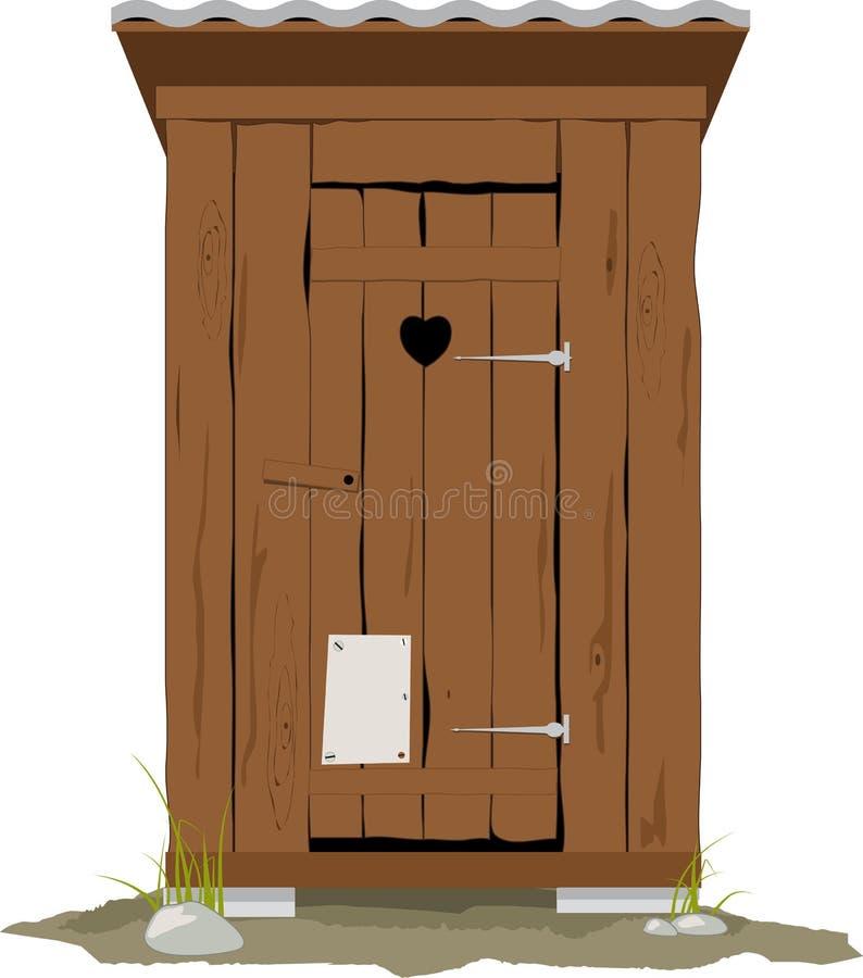 Outhouse kreskówka ilustracji