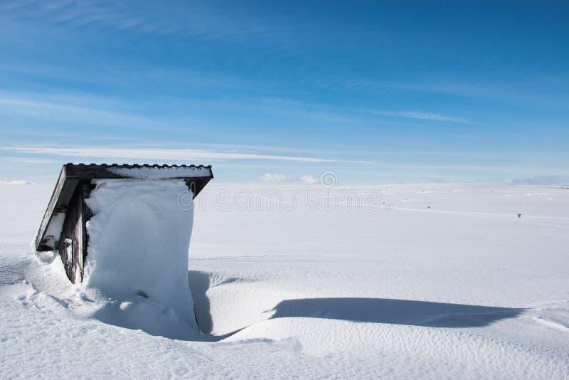 Outhouse on a mountain. royalty free stock photos