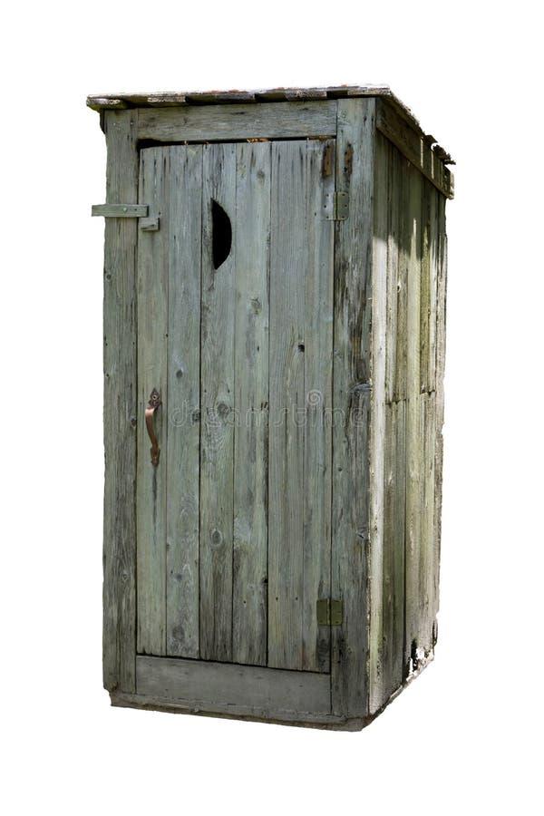 Outhouse na Białym tle zdjęcia royalty free