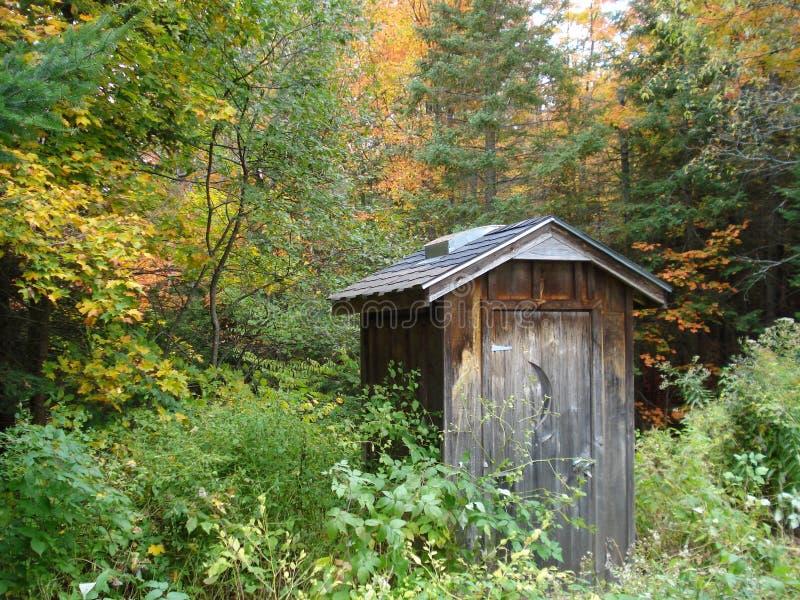 Outhouse północny Ontario fotografia stock