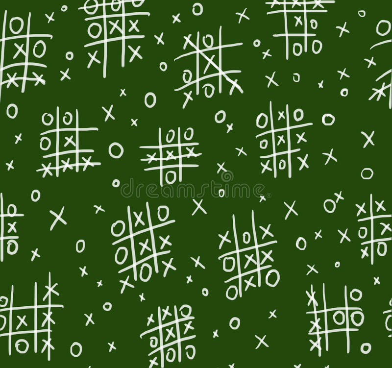Download Ouths And Crosses On Chalkboard Seamless Stock Illustration - Image: 12649879