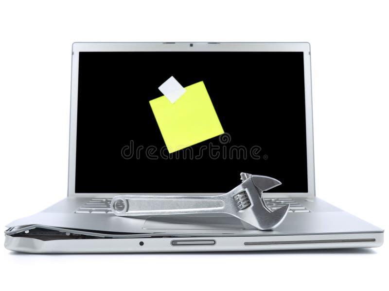 outil collant de note d'ordinateur portatif image stock