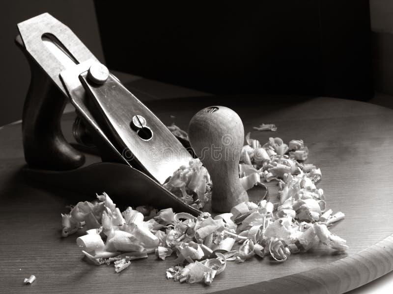 Outil de bricolage plat de vintage de charpentier photographie stock