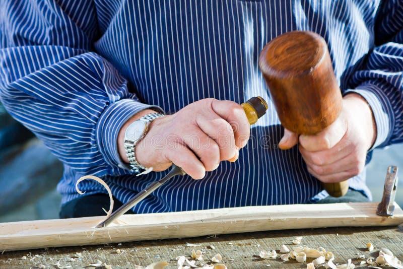 Outil de charpentier de burin en bois de gouge. photos libres de droits