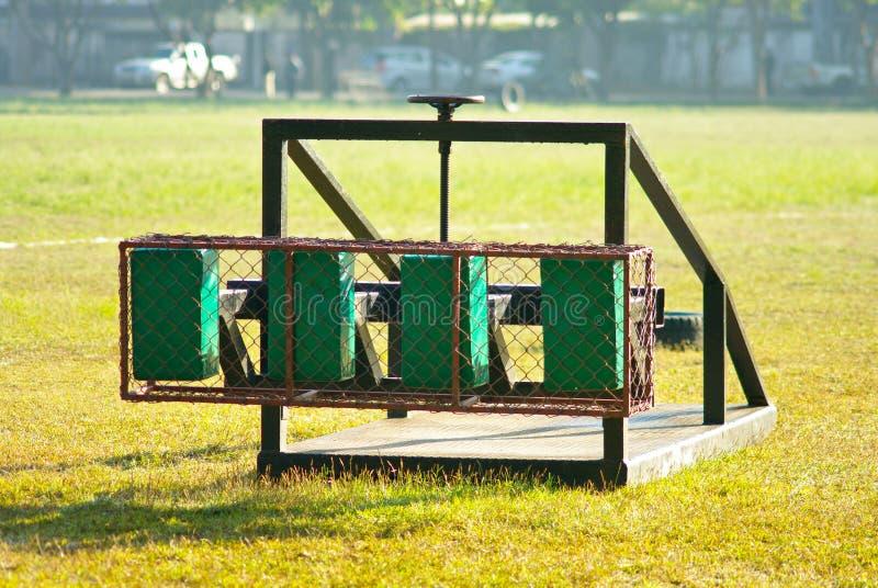 Outil de formation de bousculade de rugby photo libre de droits