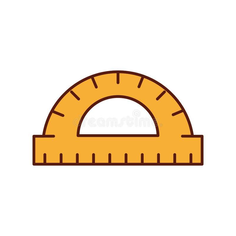 Outil de mesure d'angle de rapporteur de conception graphique illustration de vecteur