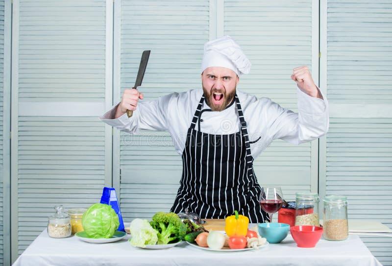 Outil de professionnel de couteau pointu Le chef choisissent les outils professionnels Outil de couteau de fendoir de prise de ch images libres de droits