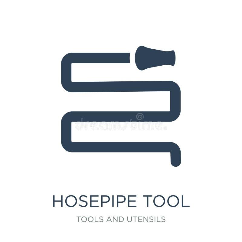 outil de tuyau flexible pour s'éteindre le feu ou l'icône de jardinage dans le style à la mode de conception outil de tuyau flexi illustration libre de droits