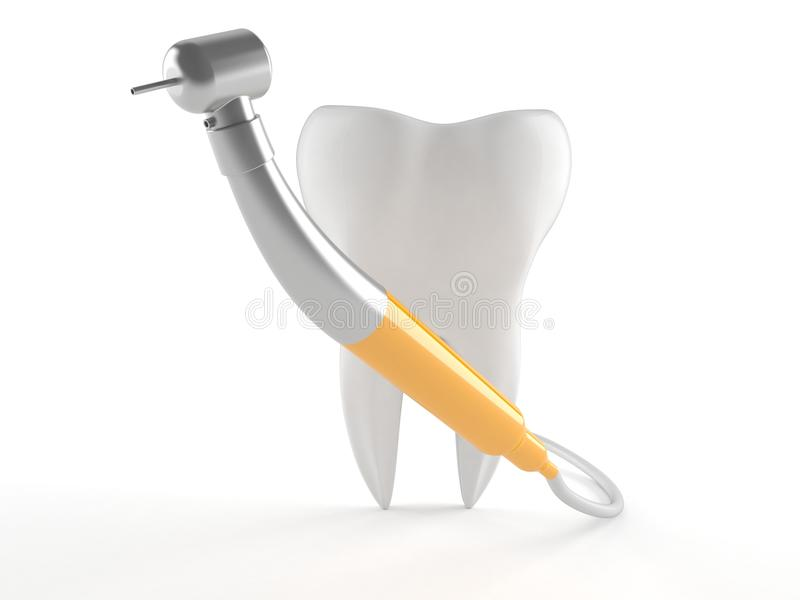 Outil dentaire avec la dent illustration stock