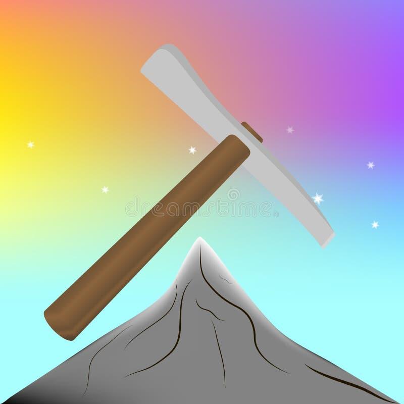 Outil pour l'extraction du minerai Vecteur sélection illustration stock