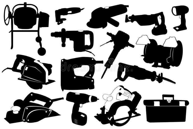 Outils électriques illustration de vecteur