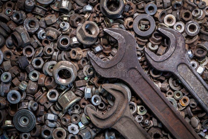 Outils étendus plats en métal image stock