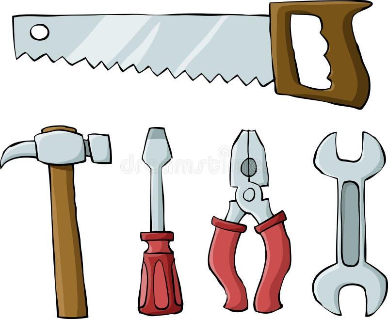 Outils illustration libre de droits