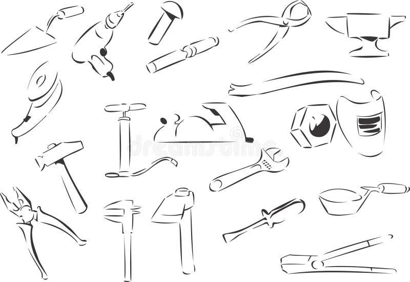 Outils illustration de vecteur