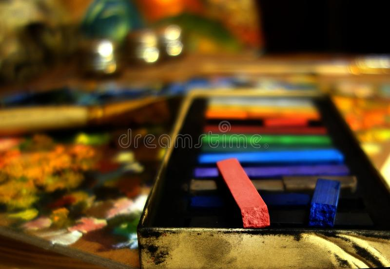 Outils d'artistes images stock