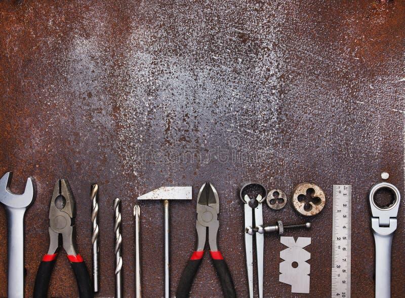Outils d'atelier en métal image stock