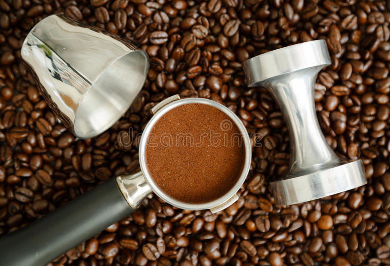 Outils d'expresso photo stock