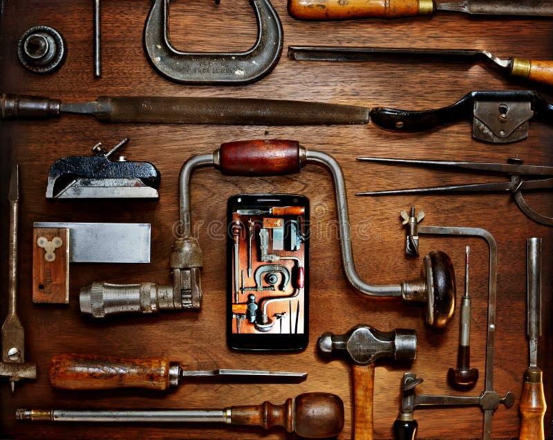 Outils de bricolage analogique-numérique image stock