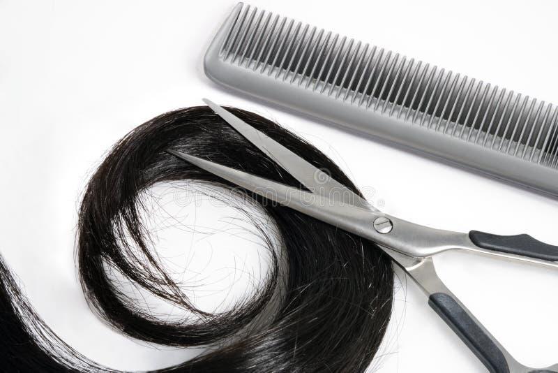 Outils de cheveu et de coiffeur images stock