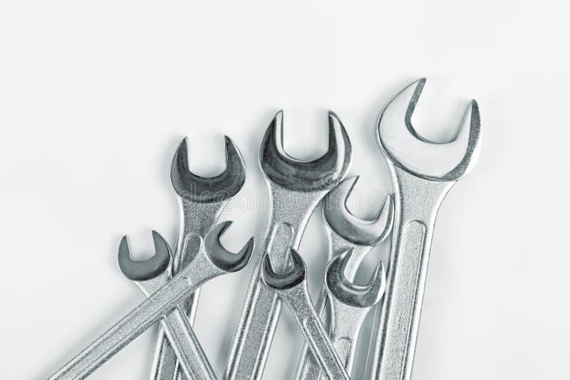 Outils de clé de mâchoire de clé photo stock