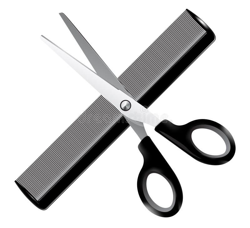 Outils de coiffeur - illustration illustration de vecteur