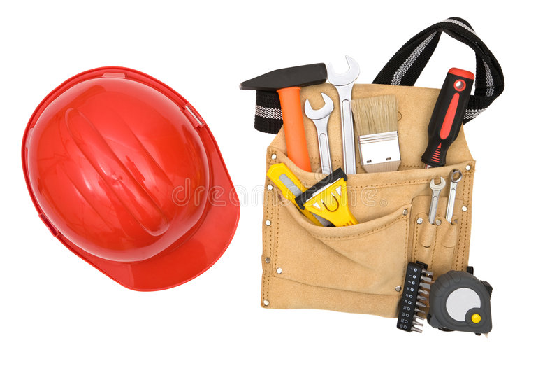 Outils de construction image stock image du toolbox cuir for Outil de construction