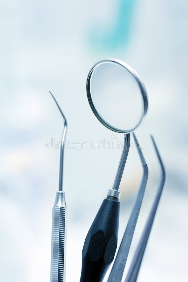 Outils de dentiste photo stock