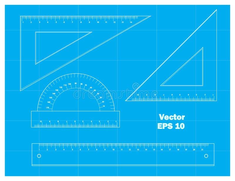 Outils de dessin schématiques illustration de vecteur