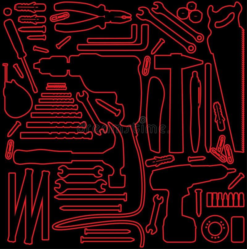 Outils de Diy illustration de vecteur