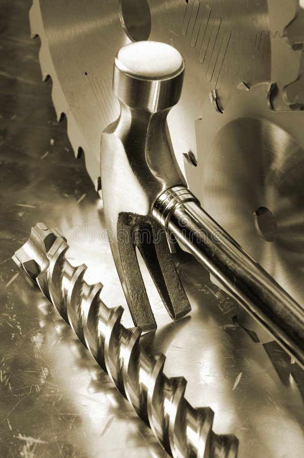 Outils de Diy dans en acier inoxydable photos libres de droits