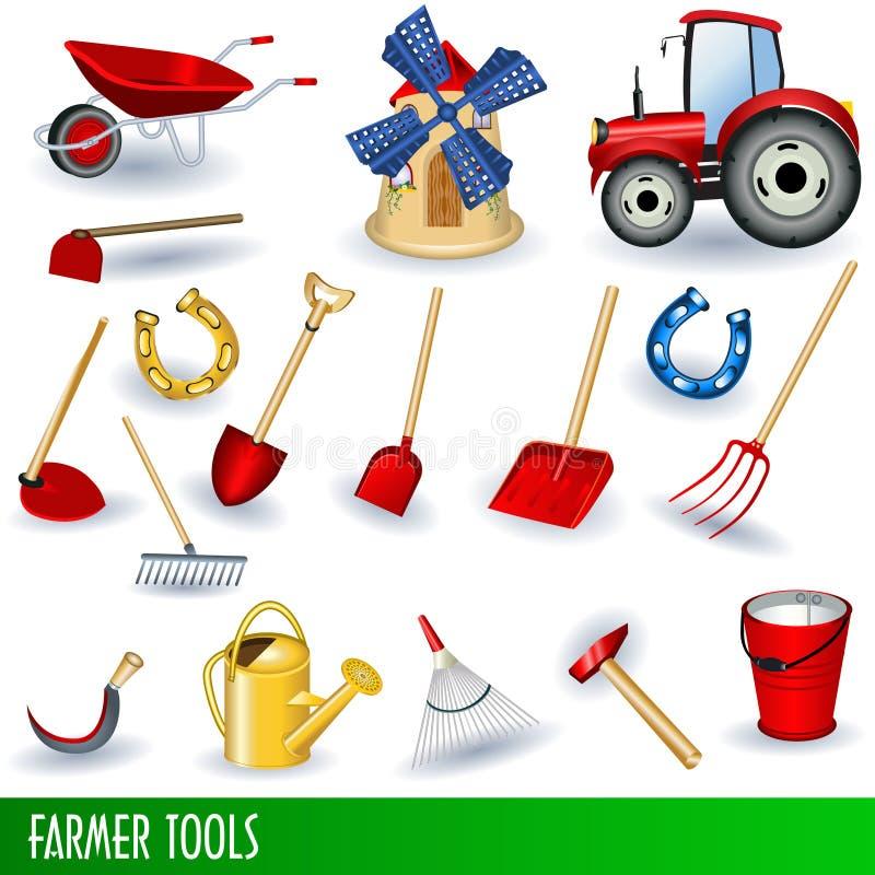 Outils de fermier illustration de vecteur