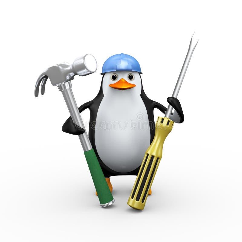 outils de fixation du pingouin 3d illustration libre de droits