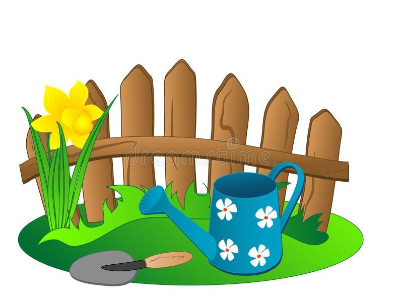 Outils de jardin illustration stock
