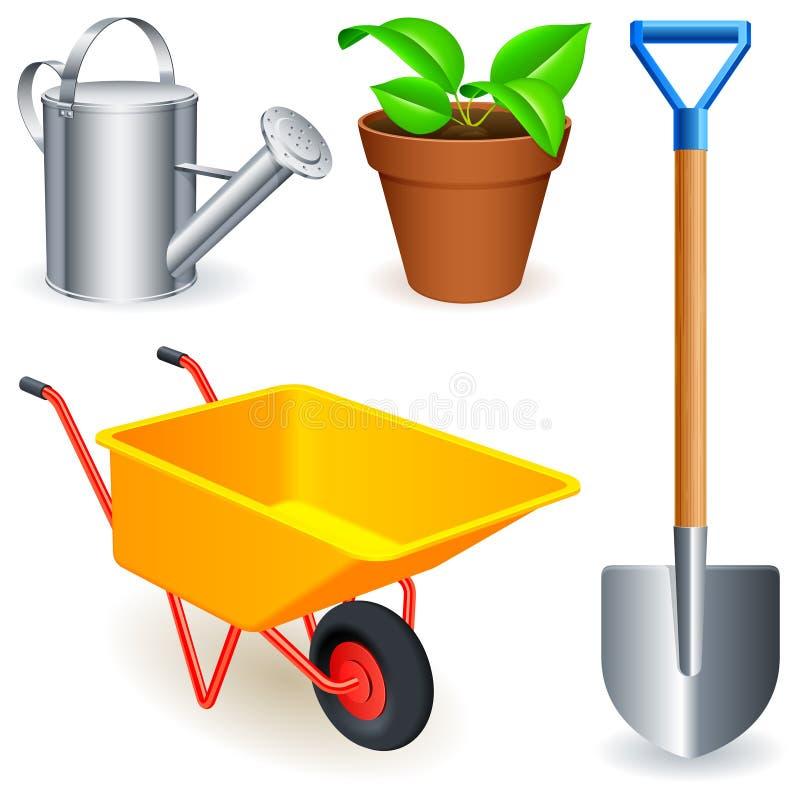 Outils de jardin. illustration libre de droits