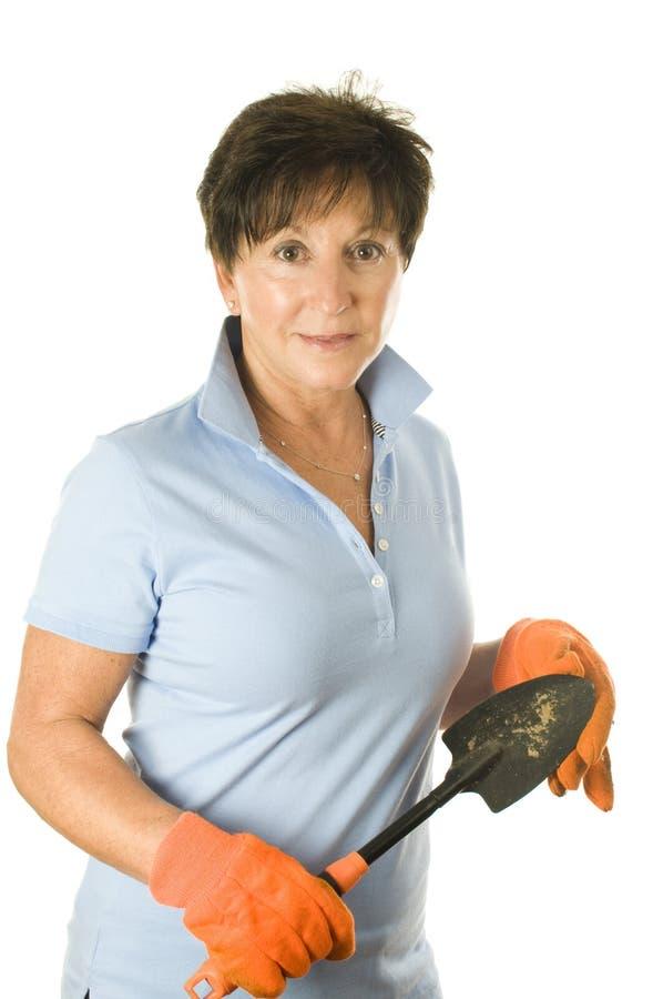 Outils de jardinage femelles de jardinier photos stock