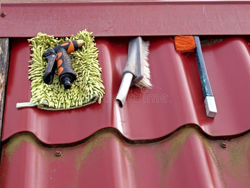 Outils de lavage photo libre de droits