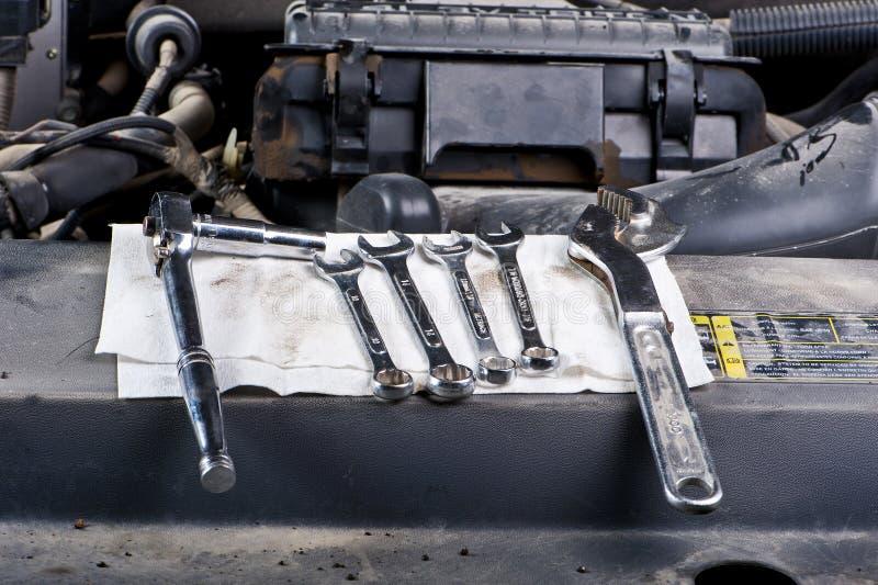 Outils de mécanicien photos libres de droits