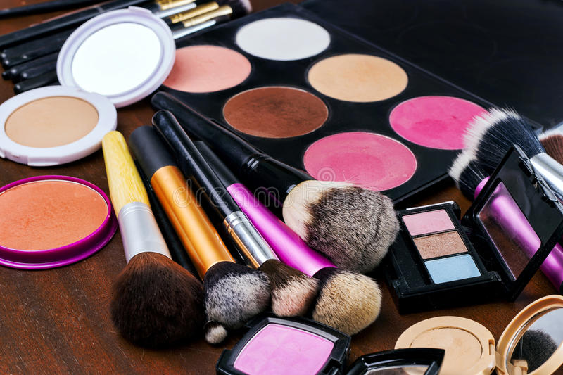 Outils de maquillage photo stock