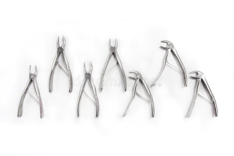Outils de matériel médical du ` s de dentiste photos libres de droits