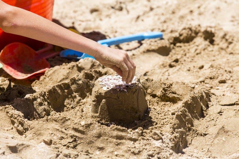 Outils de pâté de sable et de jouet photo libre de droits