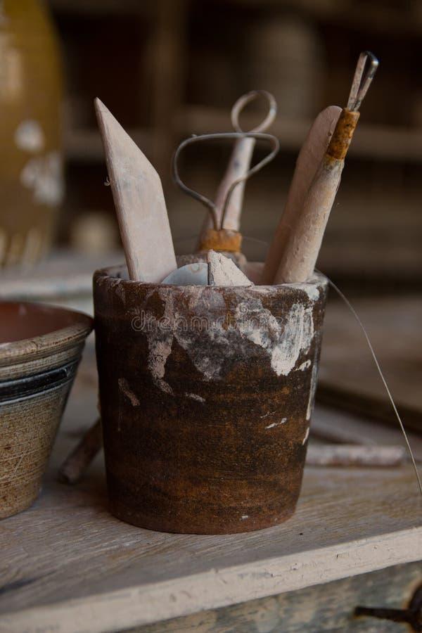 Outils de potier images stock