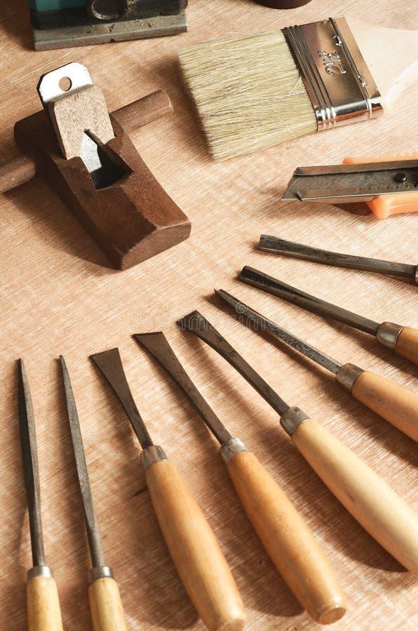 Outils de travail en bois 01 photo libre de droits