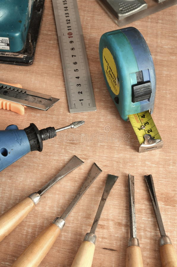 Outils de travail en bois 04 photo stock