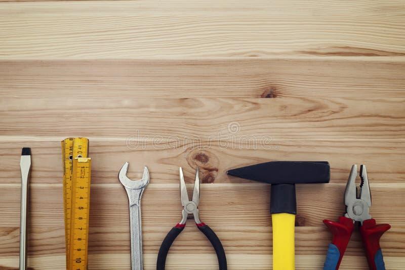 Outils de travail sur le bois image stock