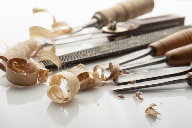 outils de travailleur du bois photo libre de droits