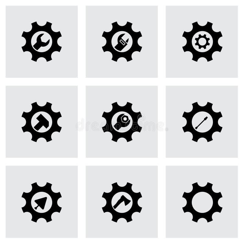 Outils de vecteur dans l'ensemble d'icône de vitesse illustration de vecteur