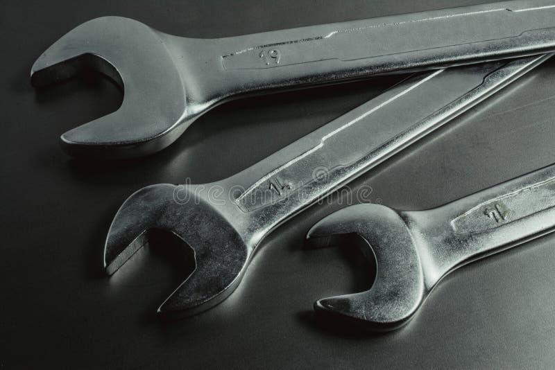Outils en acier pour la réparation photographie stock libre de droits
